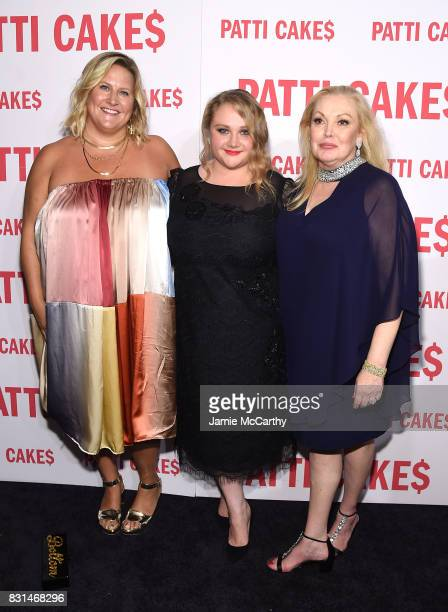 Bridget Everett Danielle Macdonald and Cathy Moriarty attend the 'Patti Cake$' New York Premiere at The Metrograph on August 14 2017 in New York City