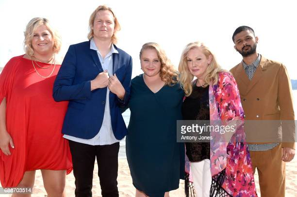 Bridget Everett Geremy Jasper Danielle Macdonald Cathy Moriarty and Siddharth Dhananjay attend the 'Patti Cake$' Photocall during the 70th annual...