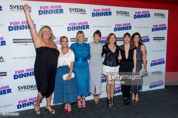 "Bridget Everett, Naomi Scott, Toni Collette, Katie Aselton, Molly Shannon, Alethea Jones and Natalie Moore attend the screening of ""Fun Mom Dinner""..."