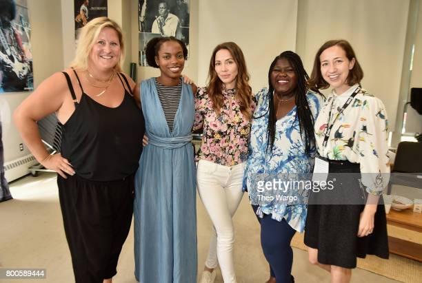 Bridget Everett Sasheer Zamata Whitney Cummings Gabourey Sidibe and Kristen Schaal attend the AllStar Comedy Roundtable during the 2017 Nantucket...