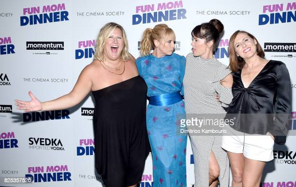 Bridget Everett Toni Collette Katie Aselton and Molly Shannon attend the screening Of 'Fun Mom Dinner' at Landmark Sunshine Cinema on August 1 2017...