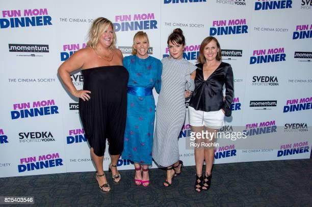 "Bridget Everett, Toni Collette, Katie Aselton and Molly Shannon attend the screening of ""Fun Mom Dinner"" at Landmark Sunshine Cinema on August 1,..."