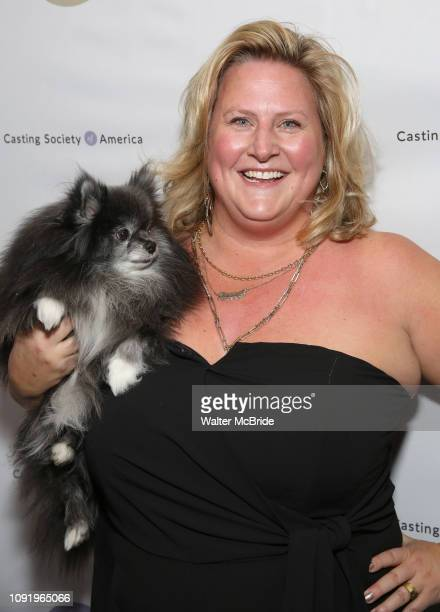 Bridget Everett with her Pomeranian Poppy attends the 34th Annual Artios Awards at Stage 48 on January 31 2019 in New York City