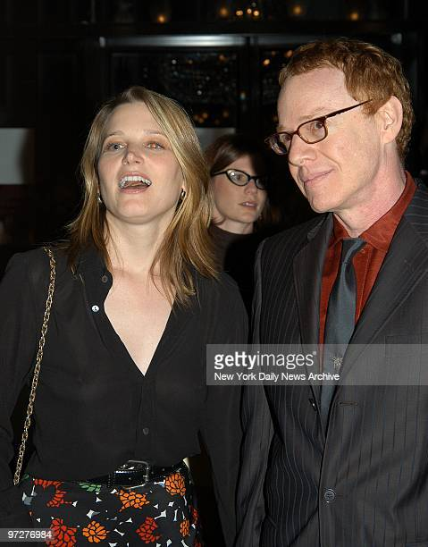 Bridget Fonda and Danny Elfman arrive at the Ziegfeld Theater for the world premiere of the movie Red Dragon He composed the music for the film
