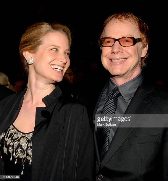 Bridget Fonda and Danny Elfman during 18th Annual International Palm Springs Film Festival Gala Awards Presentation Arrivals at Palm Springs...