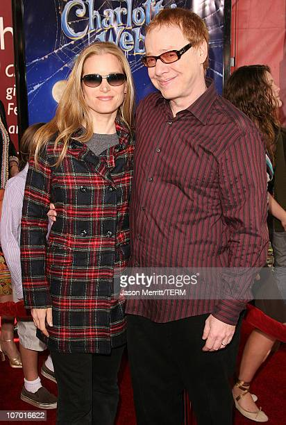Bridget Fonda and Danny Elfman during Charlotte's Web Los Angeles Premiere Arrivals at ArcLight Theatre in Hollywood California United States