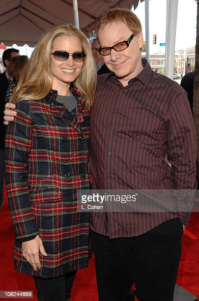 Bridget Fonda and Danny Elfman during Charlotte's Web Los Angeles Premiere Red Carpet at ArcLight Theatres in Hollywood California United States
