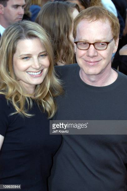 Bridget Fonda and Danny Elfman during Seabiscuit Los Angeles Premiere at Mann's Bruin in Los Angeles California United States