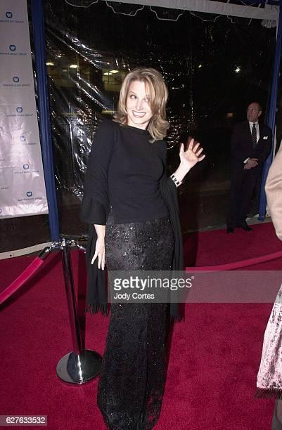 Bridget Fonda arrives at the Warner Brothers Grammy party