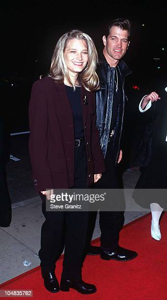 Bridget Fonda Chris Isaak during From Dusk Till Dawn Los Angeles Premiere at Cinerama Dome in Hollywood California United States