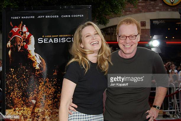 Bridget Fonda Danny Elfman during Seabiscuit Los Angeles Premiere at Mann's Bruin in Los Angeles California United States