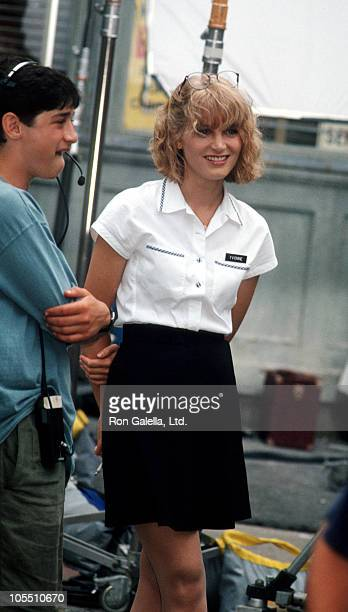 Bridget Fonda during Bridget Fonda Sighting on Location of It Could Happen to You August 17 1993 at Filming on Location of It Could Happen to You in...