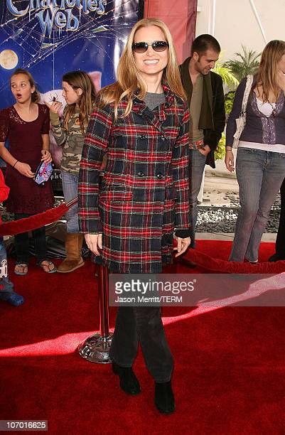 Bridget Fonda during Charlotte's Web Los Angeles Premiere Arrivals at ArcLight Theatre in Hollywood California United States