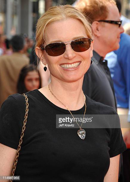 Bridget Fonda during Meet The Robinsons Los Angeles Premiere Red Carpet at El Capitan Theatre in Hollywood California United States