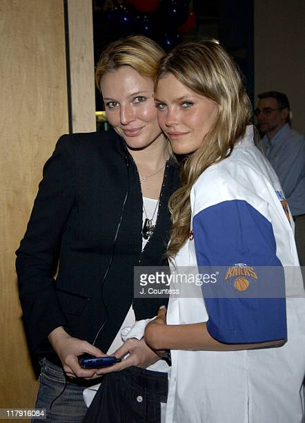 Bridget Hall and May Andersen during New York Knicks Players and Celebrities Participate in Knicks Bowl 5 to Benefit Red Holzman Knicks Cheering for...