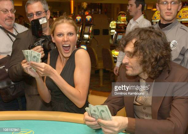 Bridget Hall and Vincent Gallo during Borgata Hotel Casino and Spa Grand Opening at Borgata Hotel Casino and Spa in Atlantic City New Jersey United...