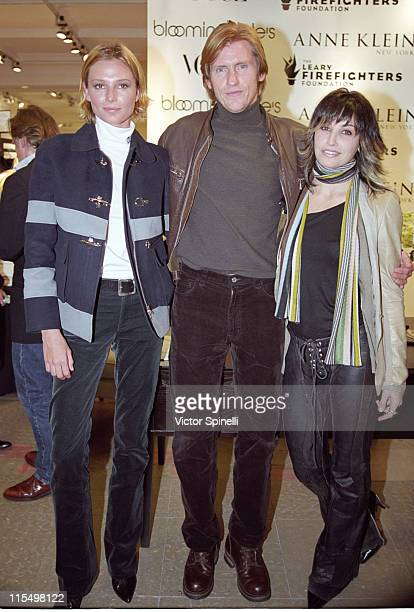 Bridget Hall Denis Leary guest during Denis Leary Charles Nolan and Bridget Hall Host Charity Shopping Event Benefiting FDNY at Anne Klein Boutique...