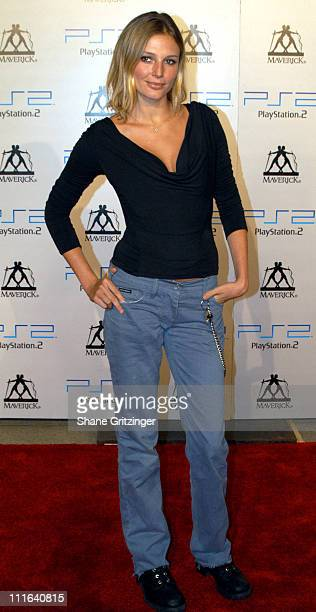 Bridget Hall during 2003 MTV Video Music Awards Playstation 2 and Guy Oseary After Party at The Four Seasons Restaurant in New York City New York...