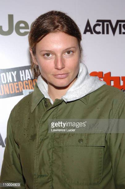 Bridget Hall during Jeep Activision and Stuff Magazine Launch Tony Hawk's Underground 2 Remix at Marquee in New York New York United States