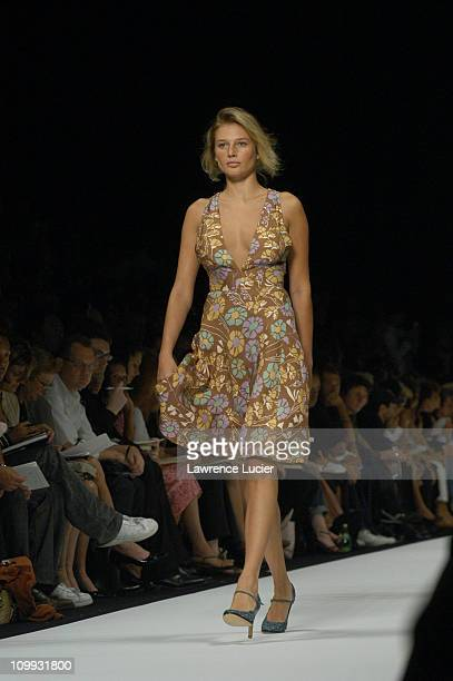 Bridget Hall during MercedesBenz Fashion Week Spring 2004 Marc Jacobs Show at New York State Armory in New York City New York United States
