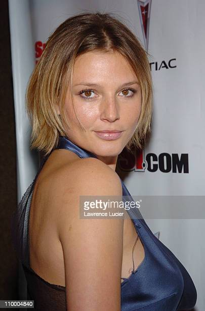 Bridget Hall during Sports Illustrated 2005 Swimsuit Issue Press Conference at AER Lounge in New York City New York United States