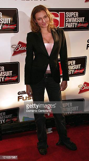 Bridget Hall during Super Bowl XL Sports Illustrated Swimsuit Party February 4 2006 in Detroit Michigan United States