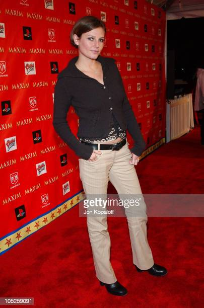 Bridget Hall during Super Bowl XXXVIII Circus Maximus Presented by Maxim at Regal Ranch in Houston Texas United States