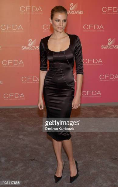 Bridget Hall during The 2003 CFDA Fashion Awards Arrivals at The New York Public Library in New York City New York United States