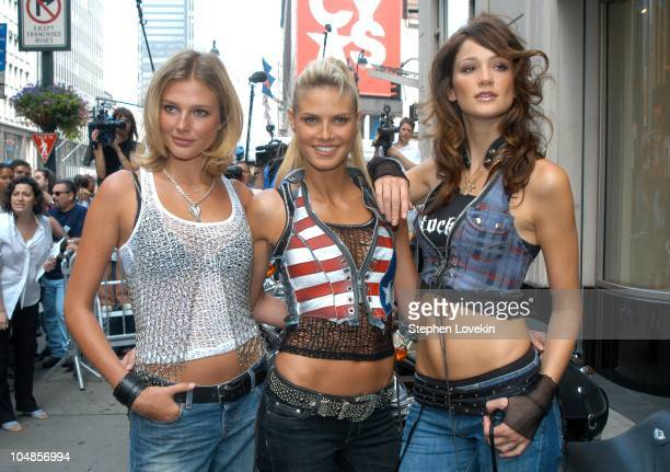 Bridget Hall Heidi Klum and Ines Rivero during Victoria's Secret Supermodels Launch New Rock Angel Collection at Victoria Secret Store on Thirty...