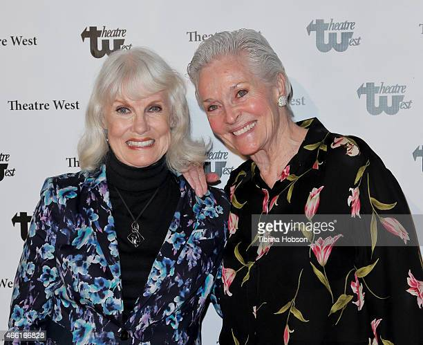 Bridget Hanley and Lee Meriwether attend The 30th anniversary production of 'Verdigris' by Jim Beaver at Theatre West on March 13 2015 in Los Angeles...