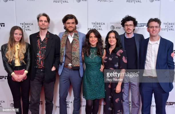 """Bridget Hart, Aaron Cupples, Florian Kunert, Director Gabrielle Brady, Poh Lin Lee, Alexander Wadouh and Samm Haillay attend a screening of """"Island..."""