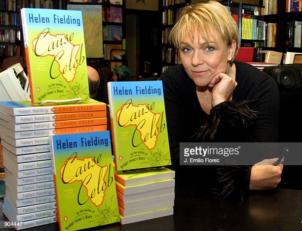 """""""Bridget Jones Diary"""" author Helen Fielding attends a book signing for her new book """"Cause Celebrity"""" March 12, 2002 in West Hollywood, CA."""