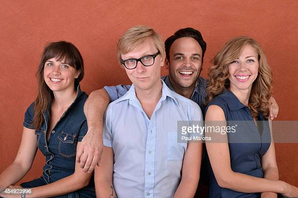Bridget Kearney Mike Olson Michael Calabrese and Rachel Price of Lake Street Dive pose for portraits during the 2014 Boston Calling Music Festival...