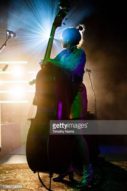 Bridget Kearney of Lake Street Dive performs at The Greek Theatre on August 22 2019 in Los Angeles California