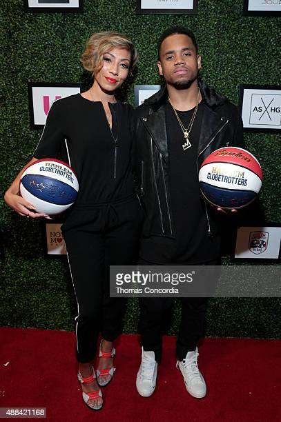 Bridget Kelly and Mack Wilds attend Angela Simmons Presents Foofi and Harlem Globetrotters 90th Anniversary Collection at KIA STYLE360 on September...
