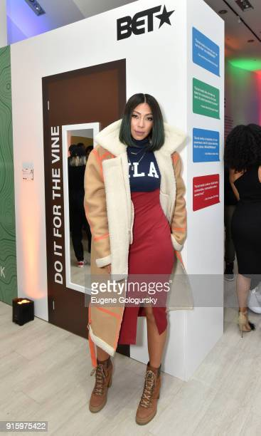 Bridget Kelly attends the BET NETWORKS Hosting of the Opening Night Reception For 'THE MUSEUM OF MEME' In Celebration Of 'THE BET SOCIAL AWARDS' at...