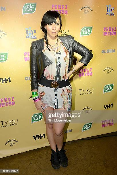 Bridget Kelly poses on the red carpet for Perez Hilton's One Night In Austin event at the Austin Music Hall during the South By Southwest Music...