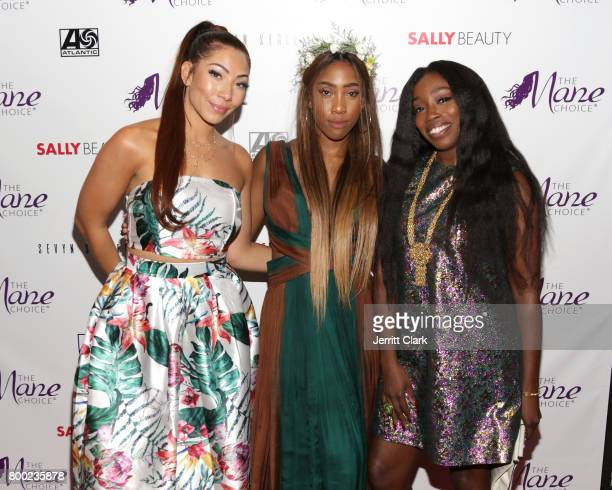 Bridget Kelly Sevyn Streeter and Estelle attend Sevyn Streeter and Courtney Adeleye of The Mane Choice