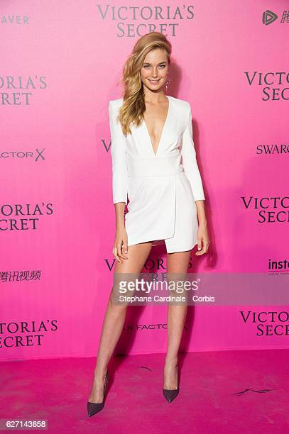 Bridget Malcolm attends '2016 Victoria's Secret Fashion Show' after show photocall at Le Grand Palais on November 30 2016 in Paris France