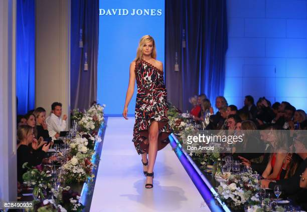 Bridget Malcolm showcases designs during the David Jones Spring Summer 2017 Collections Launch at David Jones Elizabeth Street Store on August 9 2017...