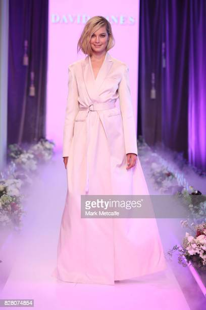 Bridget Malcolm walks the runway in a design by Biance Spender during rehearsal ahead of the David Jones Spring Summer 2017 Collections Launch at...