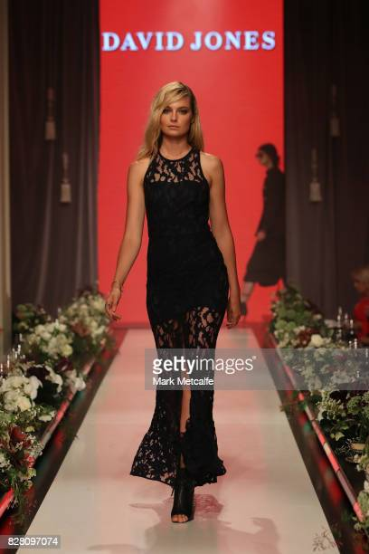Bridget Malcolm walks the runway in a design by Manning Cartell during the David Jones Spring Summer 2017 Collections Launch at David Jones Elizabeth...