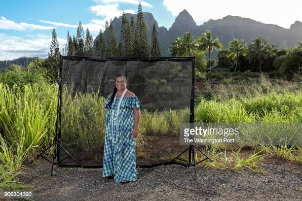 Bridget Manulele Dudoit Clarke on her property on Kauai in Anahola HI on May 27 2017 Clark was nine years old when Hawaii became a state Her...