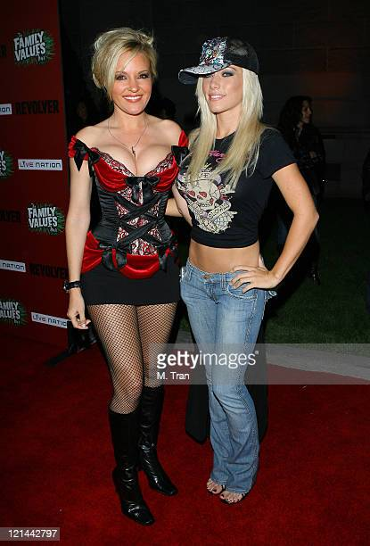 Bridget Marquardt and Kendra Wilkinson during Family Values Launch Tour with Halloween In Spring Costume Ball at Hollywood Forever Cemetery in...