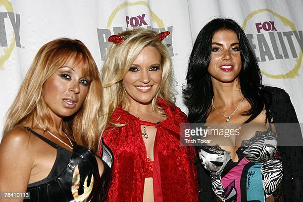Bridget Marquardt from The Girls Next Door and friends attend the Open Casket Call For The Next Elvira at the Queen Mary on Friday July 13 2007 in...