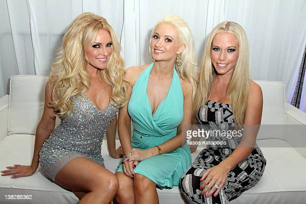 Bridget Marquardt Holly Madison and Kendra Wilkinson attends the Ninth Annual Leather and Laces event at the Regions Bank Tower on February 4 2012 in...