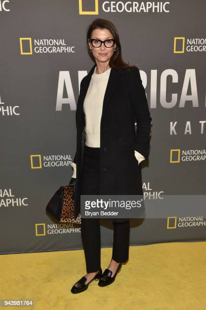 Bridget Moynahan Actress and Model attends National Geographic's premiere screening of AMERICA INSIDE OUT WITH KATIE COURIC on April 9 2018 in New...
