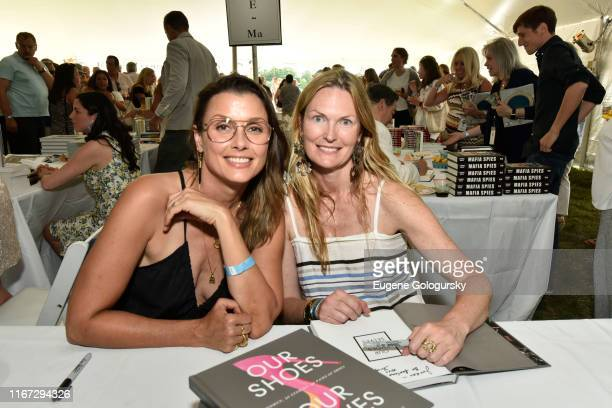 Bridget Moynahan and Amanda Benchley attends Authors Night With The East Hampton Library on August 10 2019 in East Hampton New York