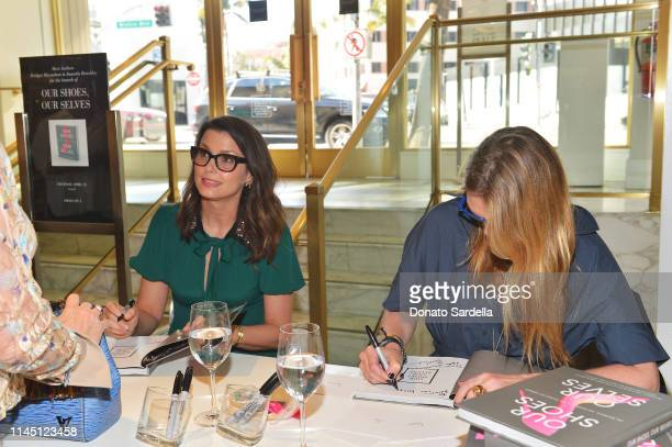Bridget Moynahan and Amanda Benchley sign books at Saks Beverly Hills Celebrates Our Shoes Our Selves Book Launch with Bridget Moynahan and Amanda...