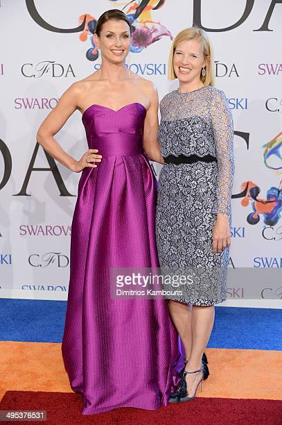 Bridget Moynahan and designer Lela Rose attend the 2014 CFDA fashion awards at Alice Tully Hall Lincoln Center on June 2 2014 in New York City